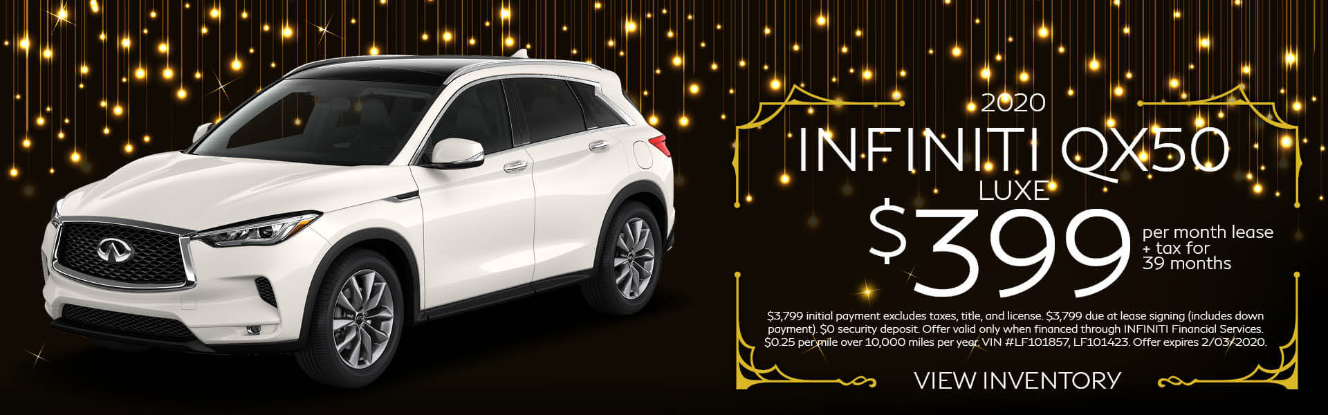 QX50- Lease for $399