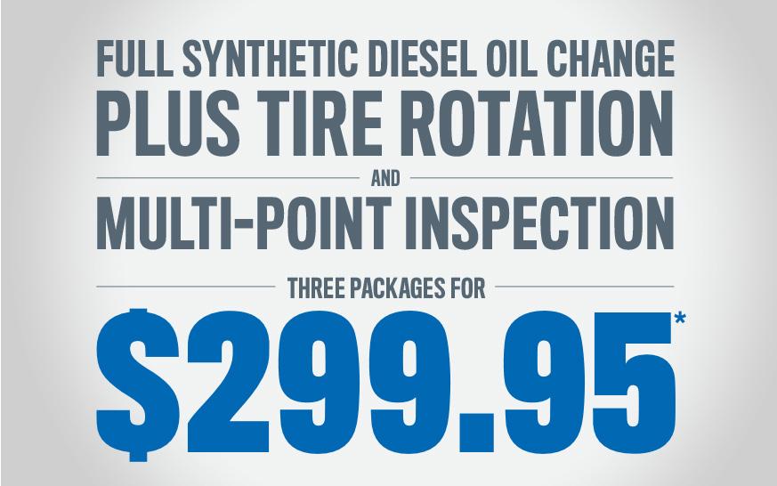 Full Synthetic Diesel Oil Change