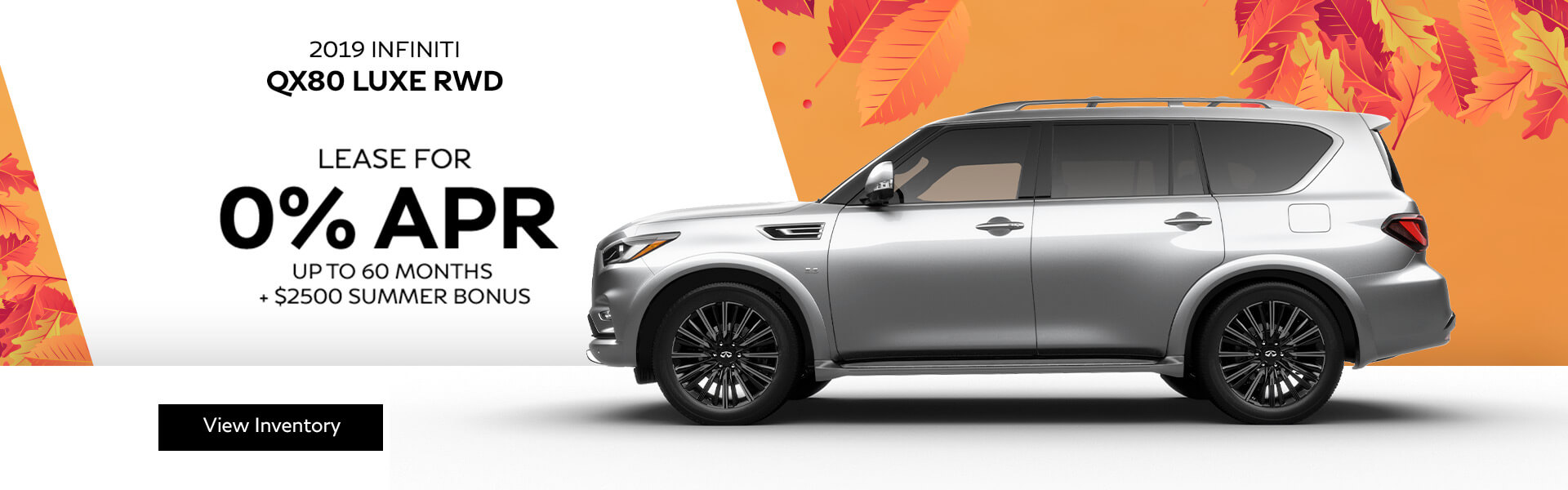 QX80 LUXE - Finance for 0% APR