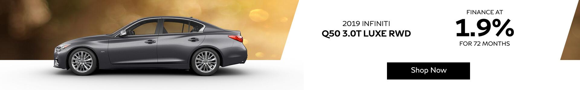 Q50 LUXE - Finance a 1.9%