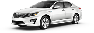 Kia Optima Hybrid serving Universal City