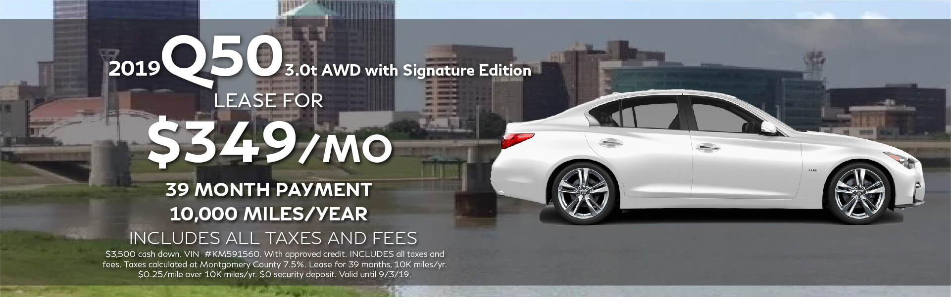 Q50 Signature Edition - Lease for $349