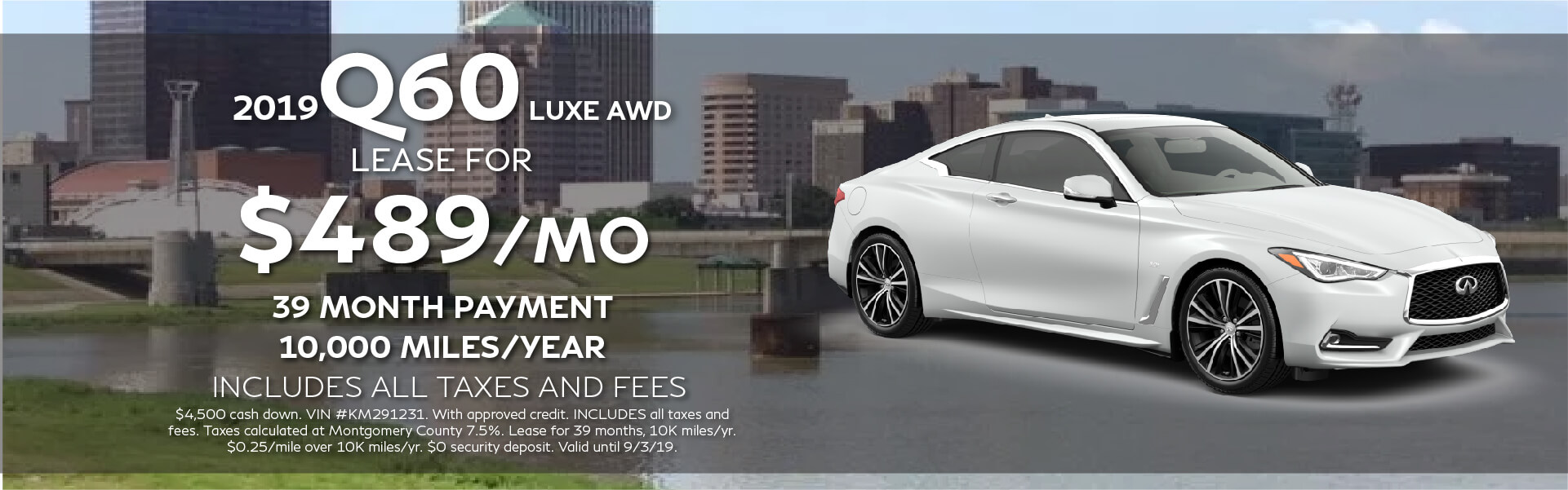 Q60 LUXE - Lease for $489