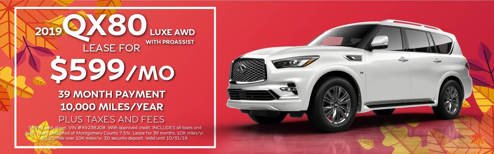 QX80 LUXE - Lease for $769