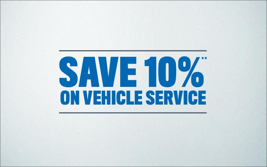 Save 10% on Service