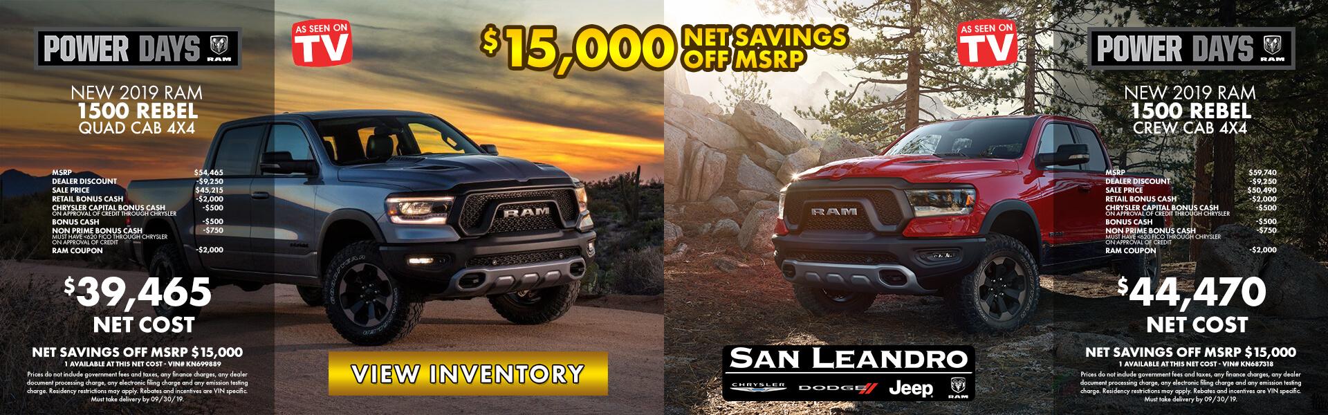 San Leandro Dodge Dealer >> 47 New Ram 1500 in Stock in San Francisco, Oakland ...