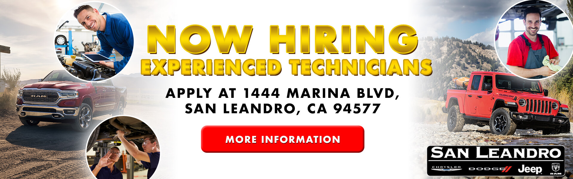 We are Hiring Experienced Technicians