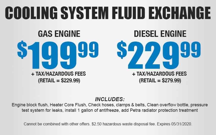 Cooling System Fluid Exchange