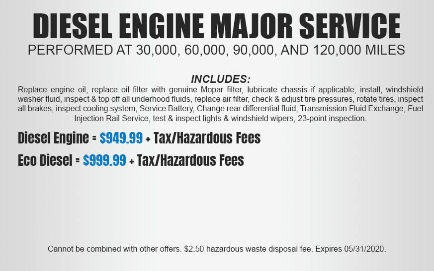 Diesel Engine Major Service