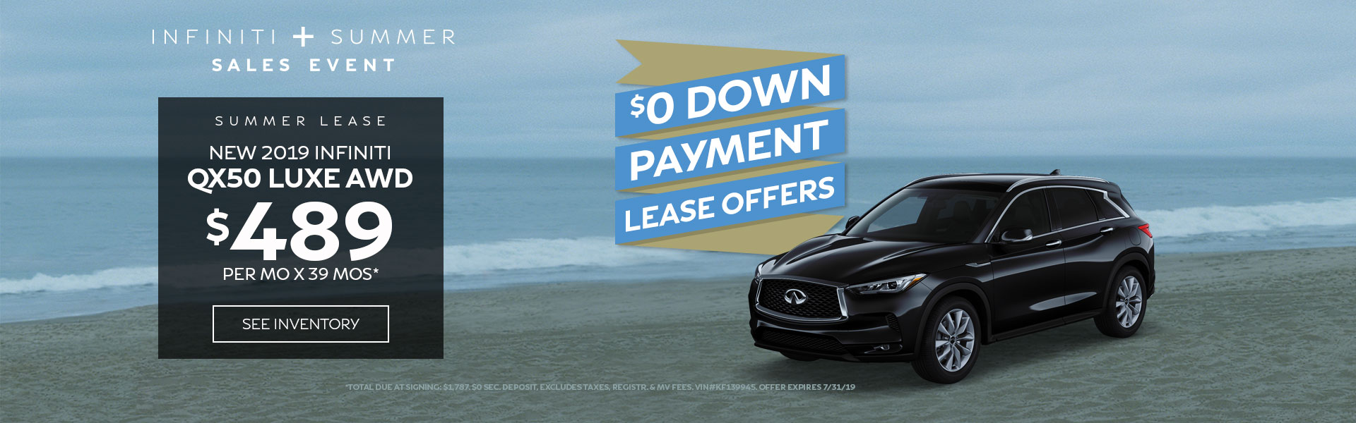 QX50 LUXE - Lease for 489