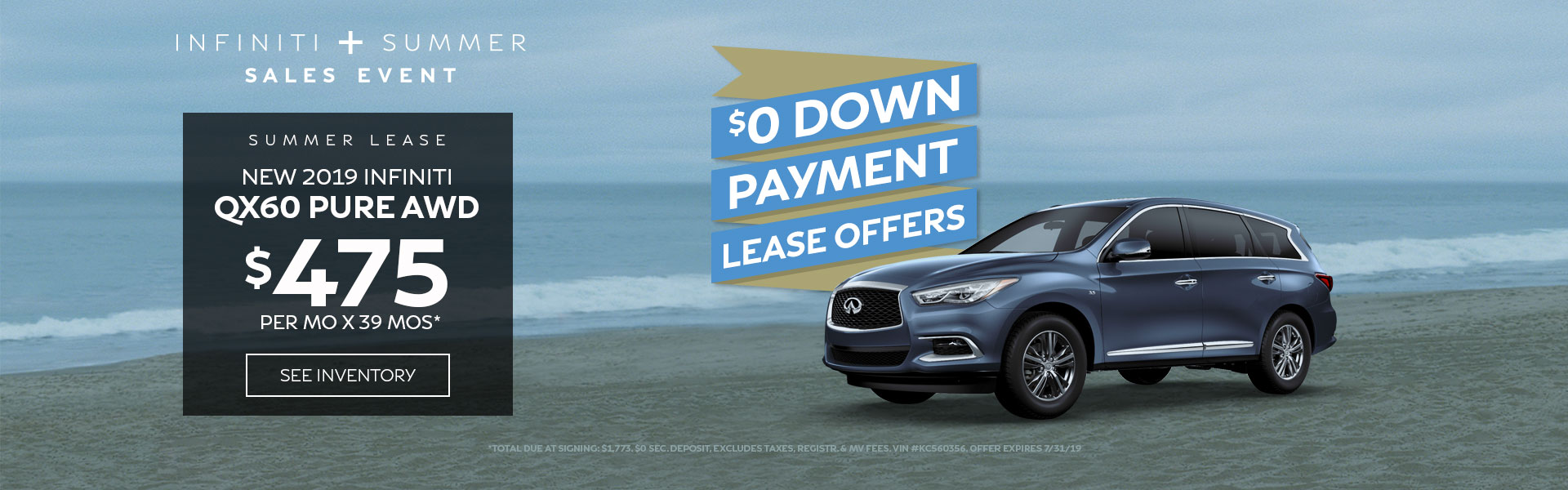 QX60 PURE - Lease for 475