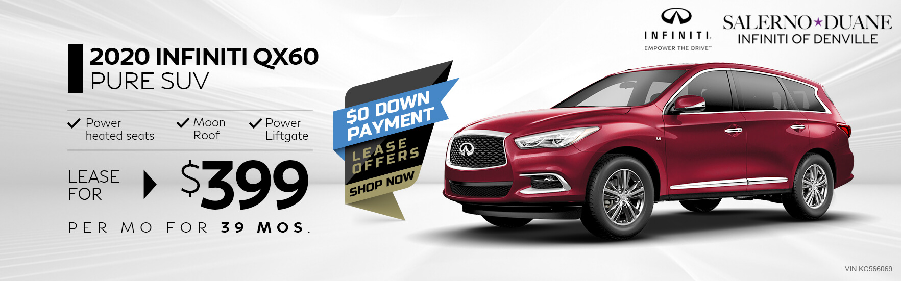 QX60 - Lease for 399