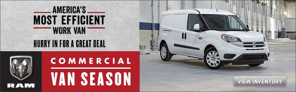 America's Most Efficient Work Van - Hurry in for a great deal - Commercial Van Season - View Inventory