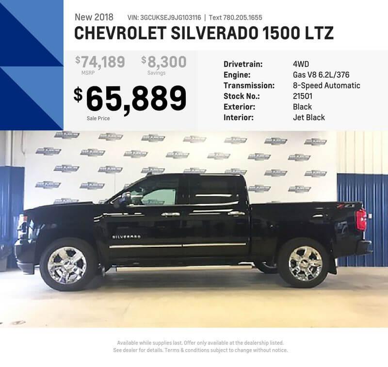 New 2018 Silverado 1500 LTZ – Black