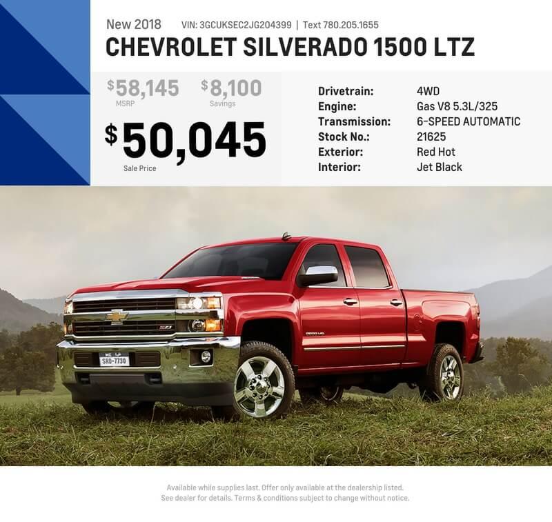 New 2018 Silverado LTZ – Red