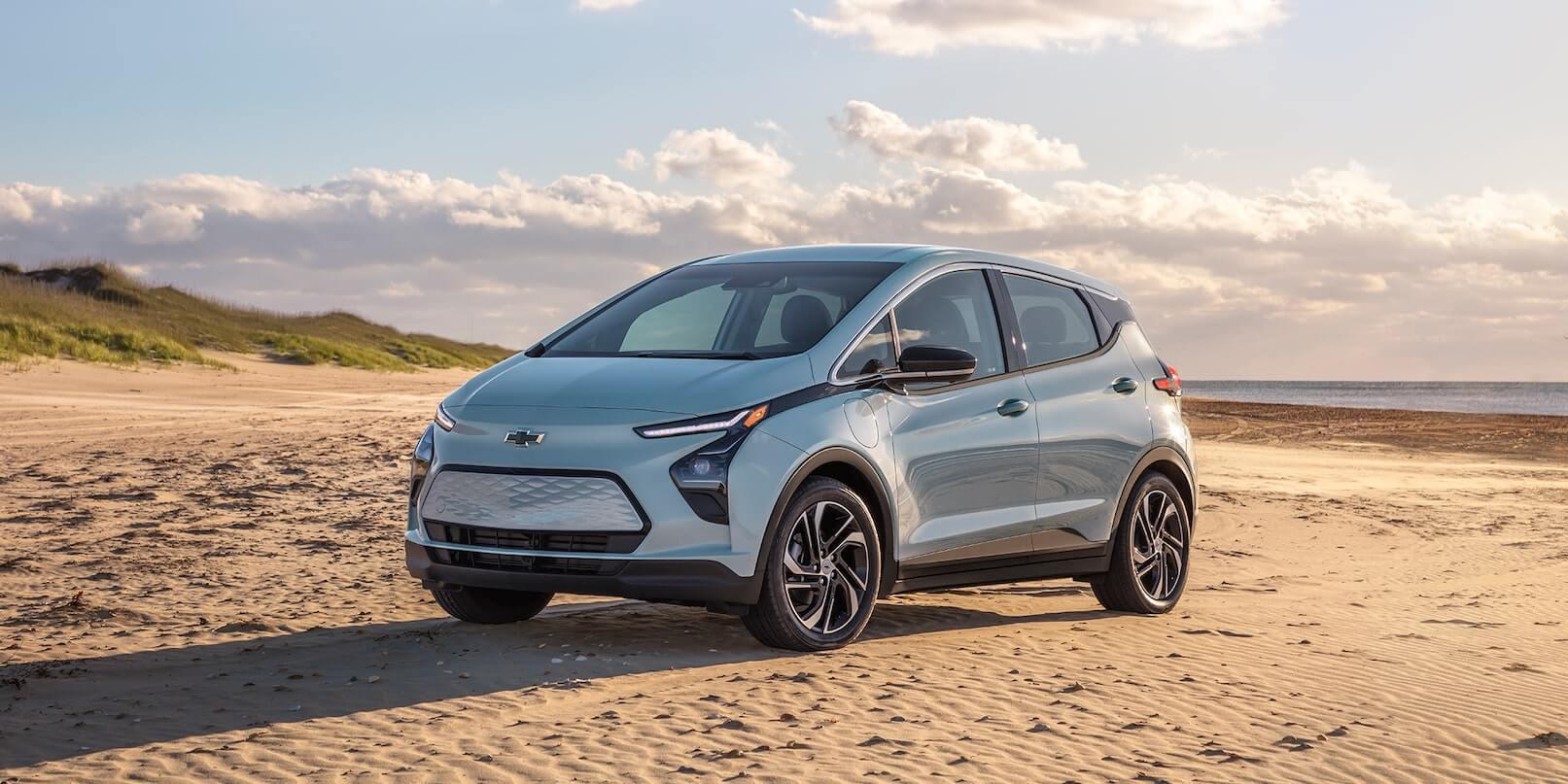 2022 Chevrolet Bolt EV parked in the desert