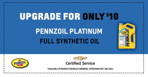 Upgrade to Pennzoil Platinum Oil