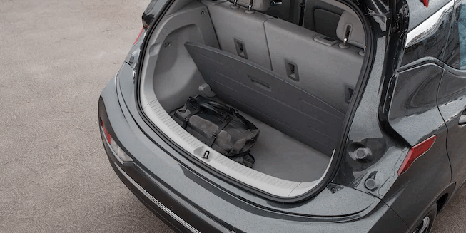 2021 Bolt EV Electric Car Cargo: Hidden Storage.