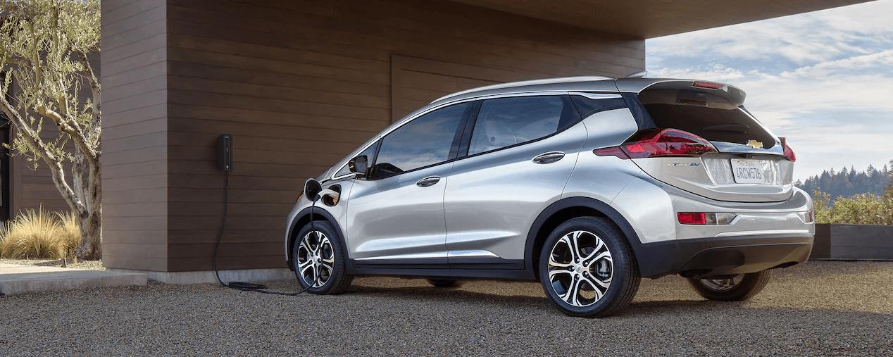2021 Bolt EV Electric Car Charging Side Profile.