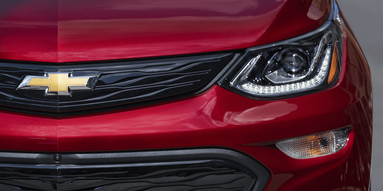 2021 Bolt EV Electric Car Exterior Photo: Front Grille And Headlamp.