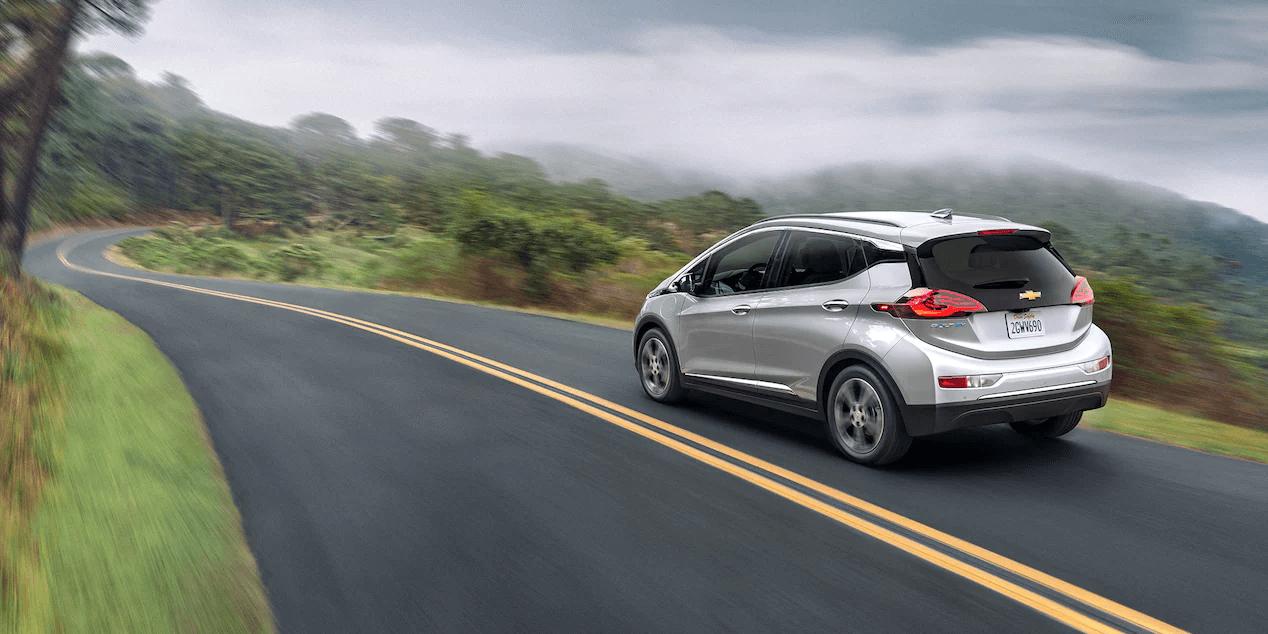 2021 Bolt EV Electric Car Exterior Photo: Rear Profile.