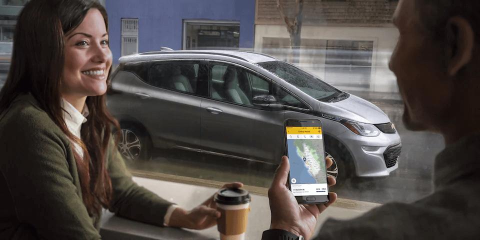 2021 Bolt EV Electric Car Exterior: MyChevrolet App.