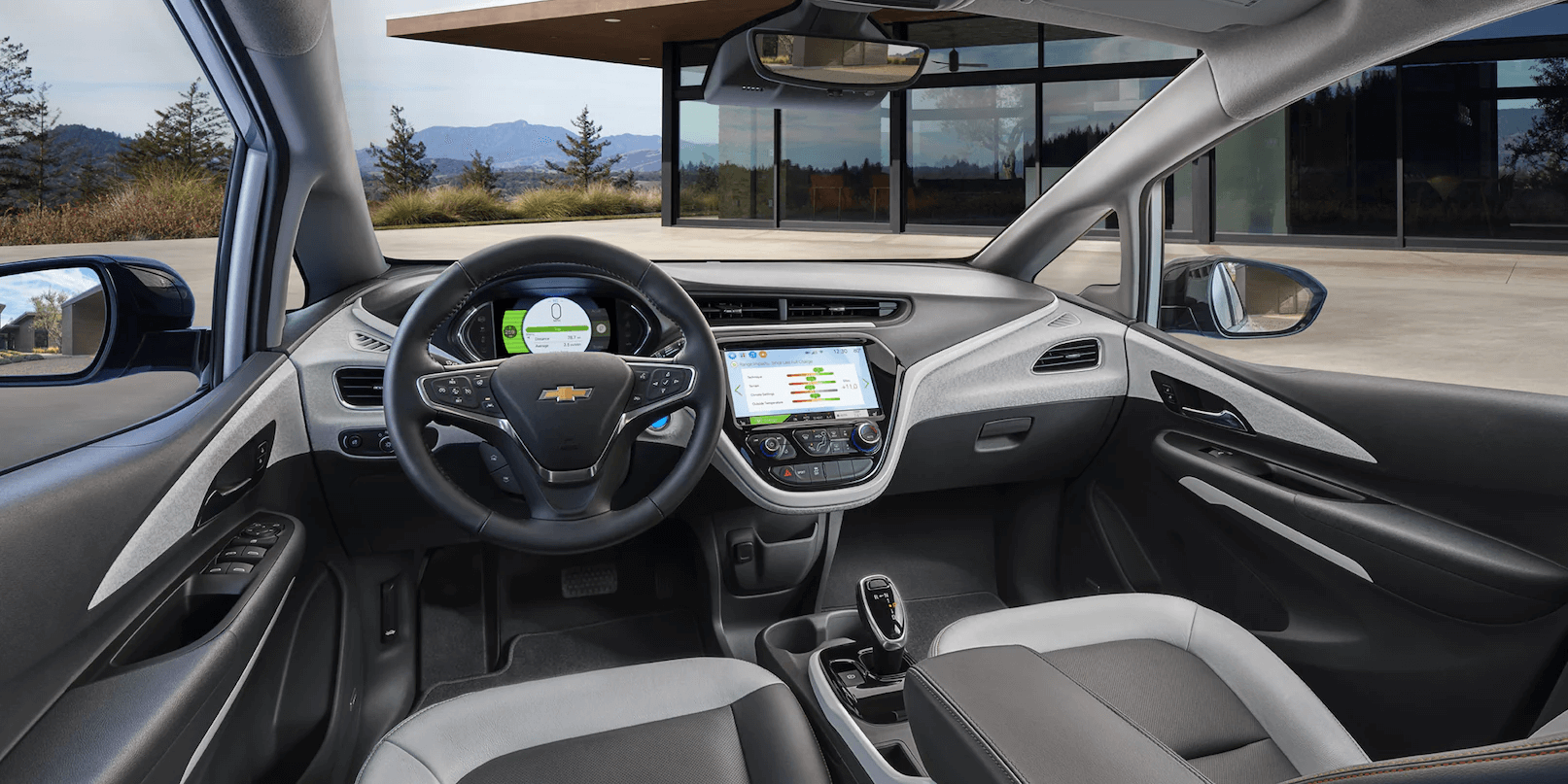 2021 Bolt EV Electric Car Interior Photo: Dashboard Daylight.