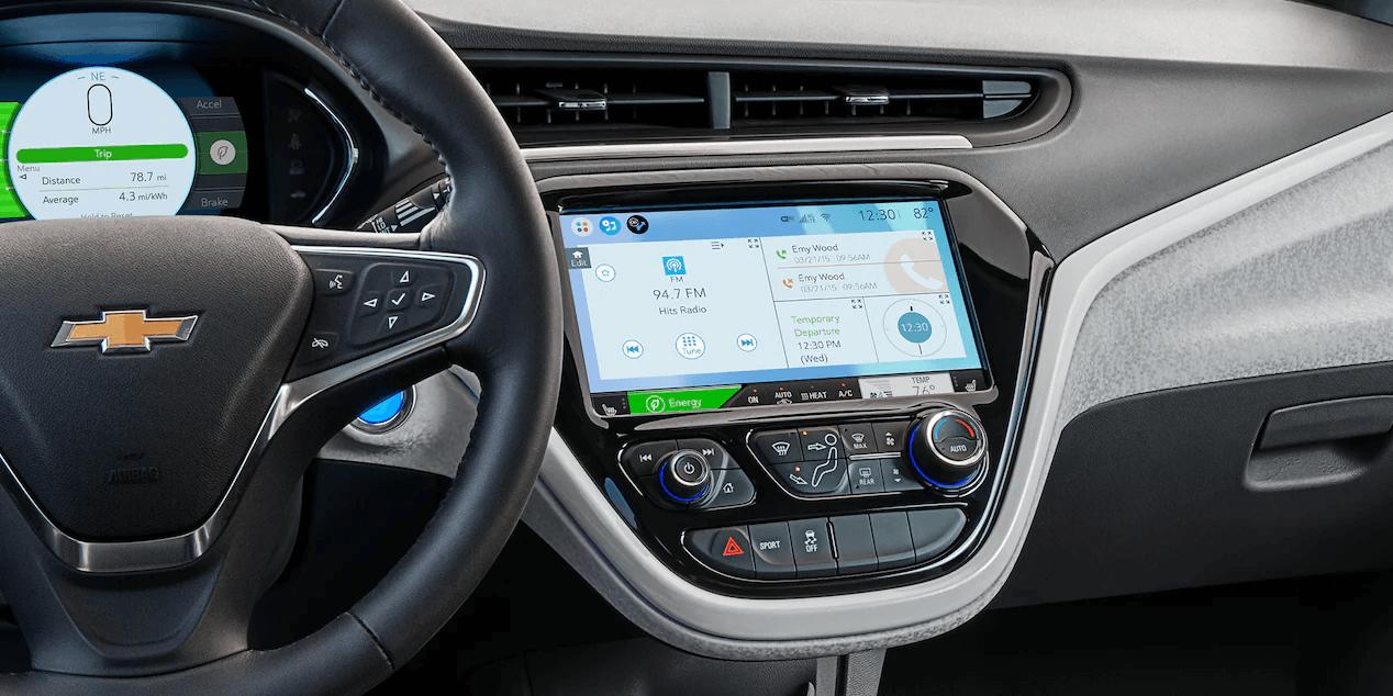 2021 Bolt EV Electric Car Interior Photo: Dashboard View.