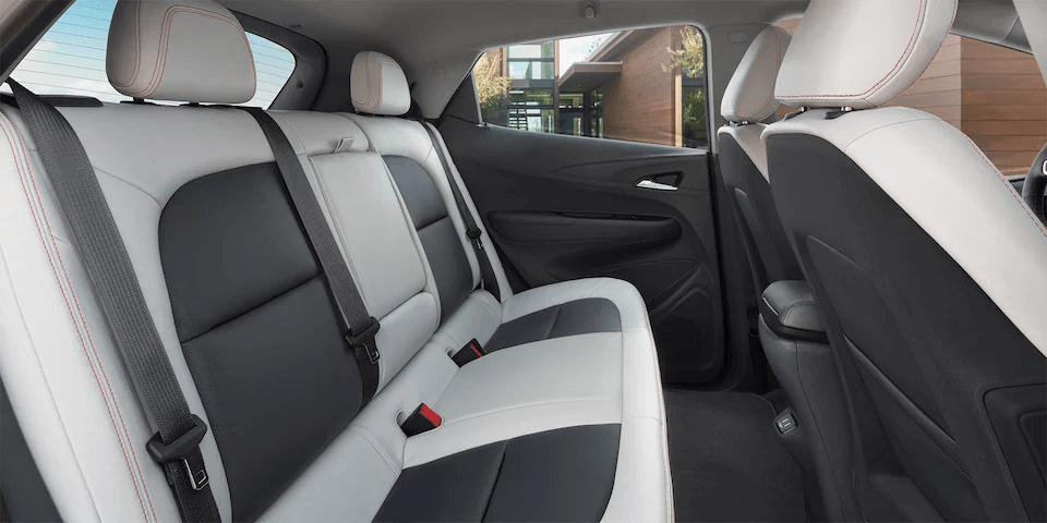 Chevrolet Bolt EV Electric Car Interior Photo: Rear Seats.