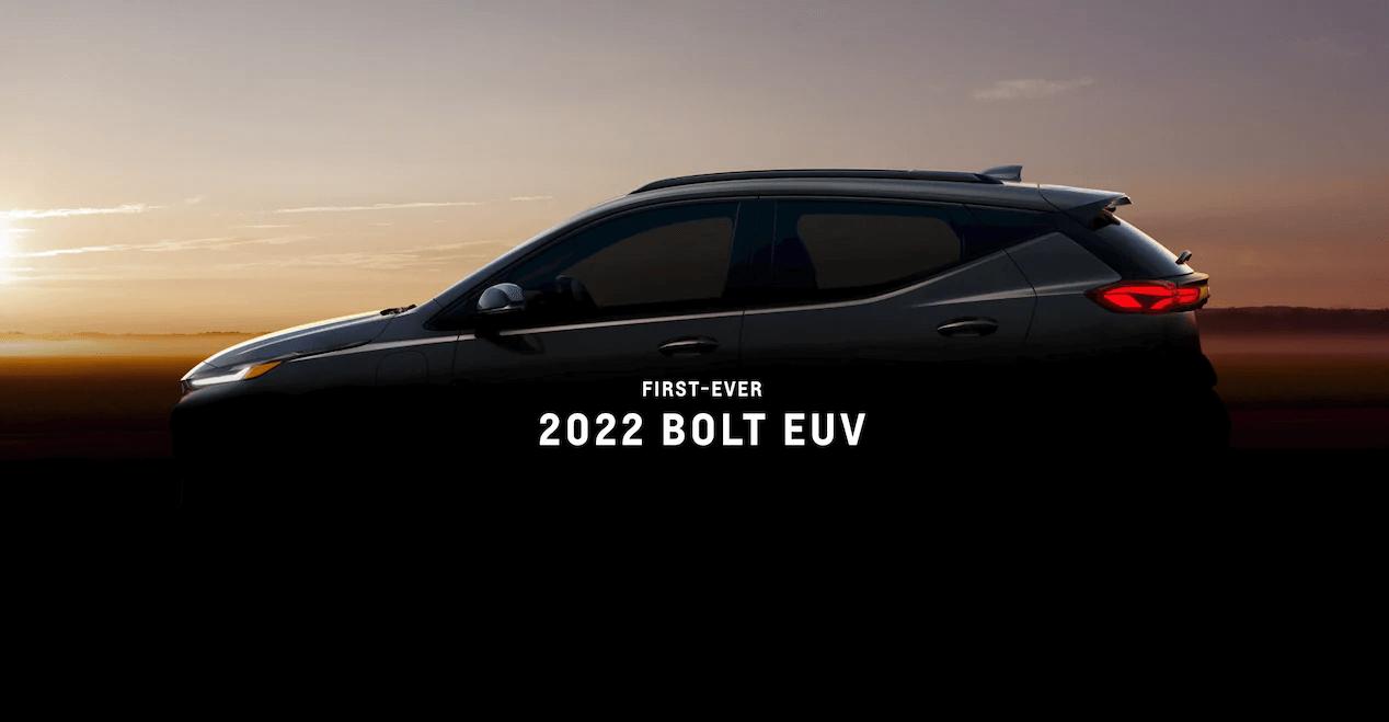 First-ever 2022 Bolt EUV.