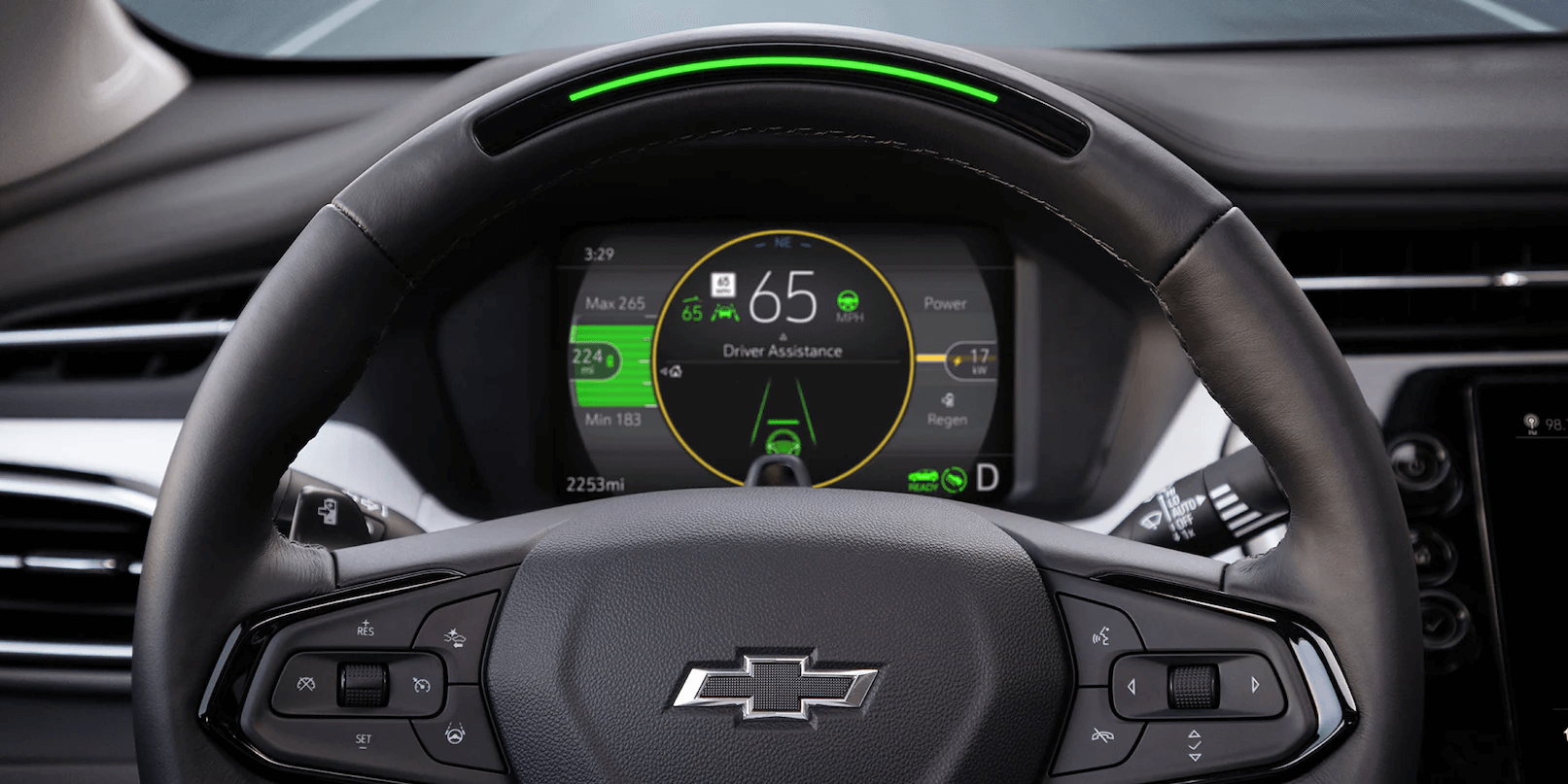2022 Chevrolet Bolt EUV steering wheel.