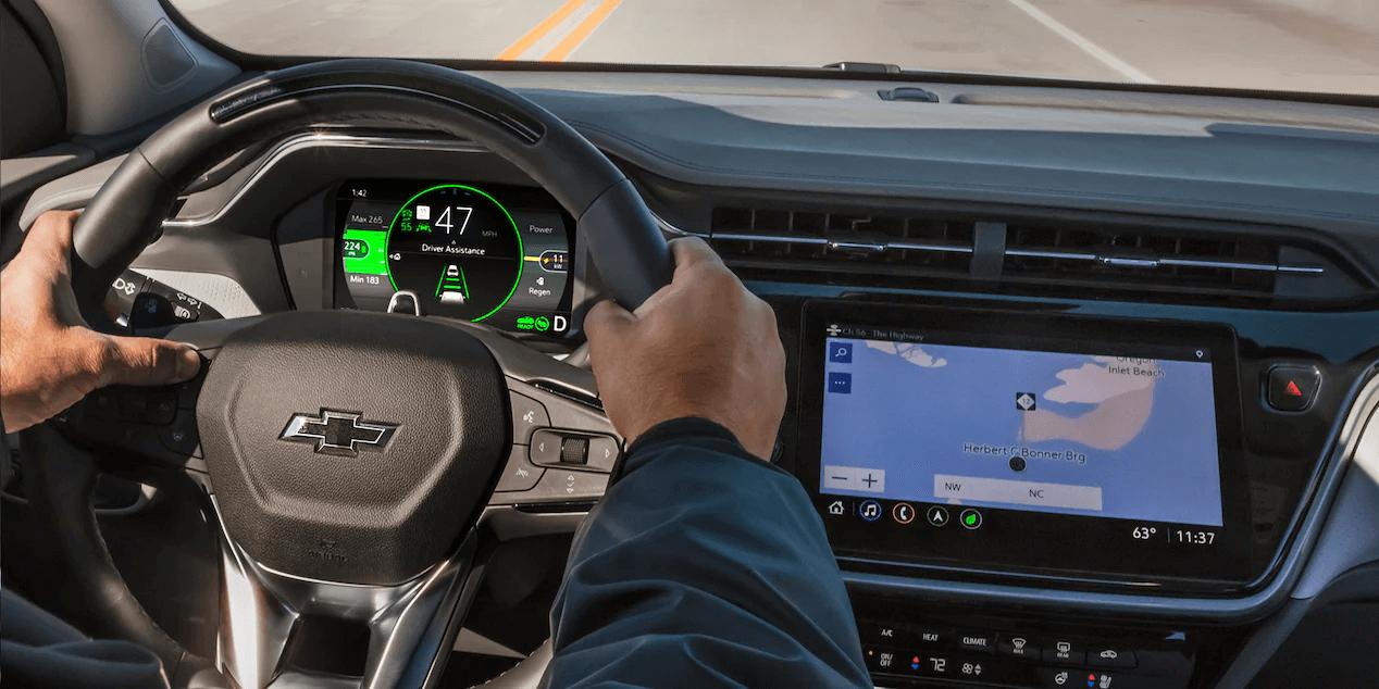 2022 Chevrolet Bolt EUV dashboard view.