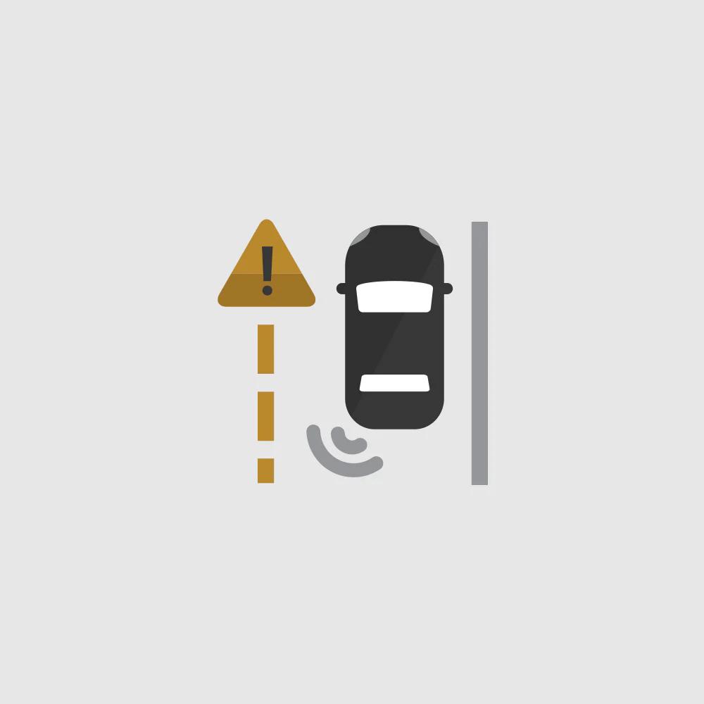 Lane Change Alert Zone Icon.