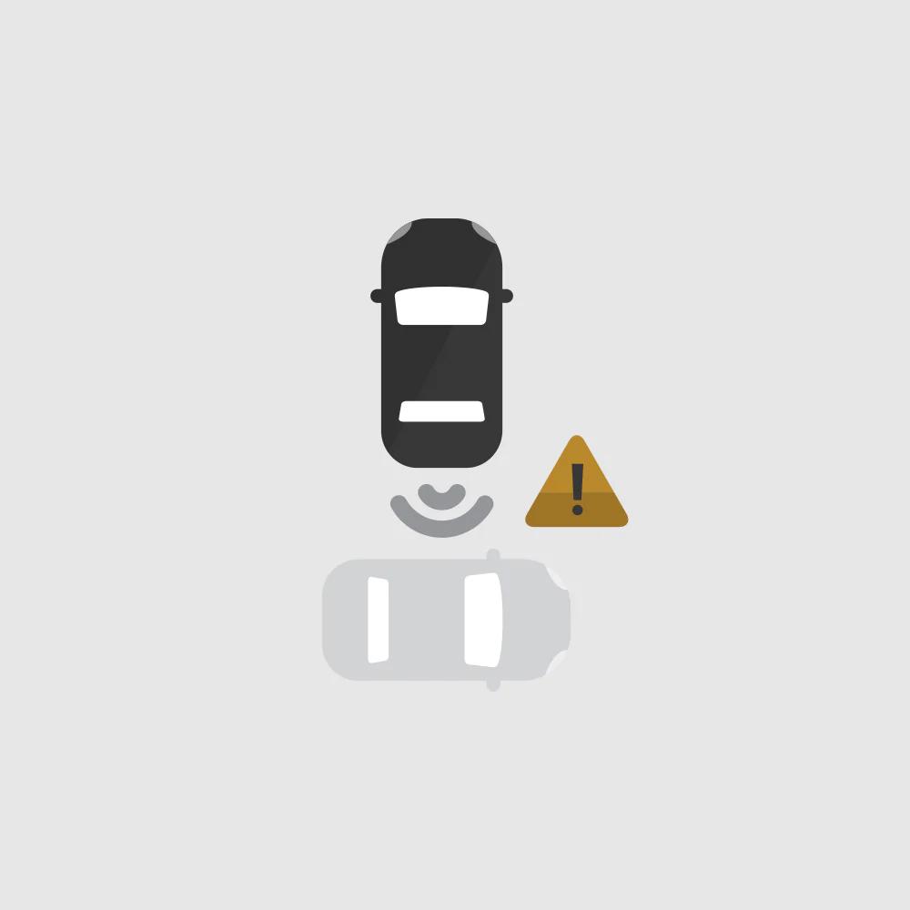 Rear Cross Traffic Alert Icon.