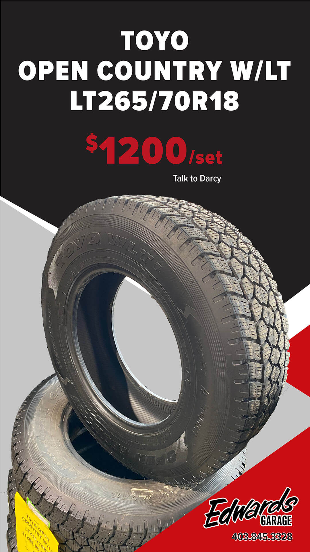 Set of Tires - Toyo W/LT