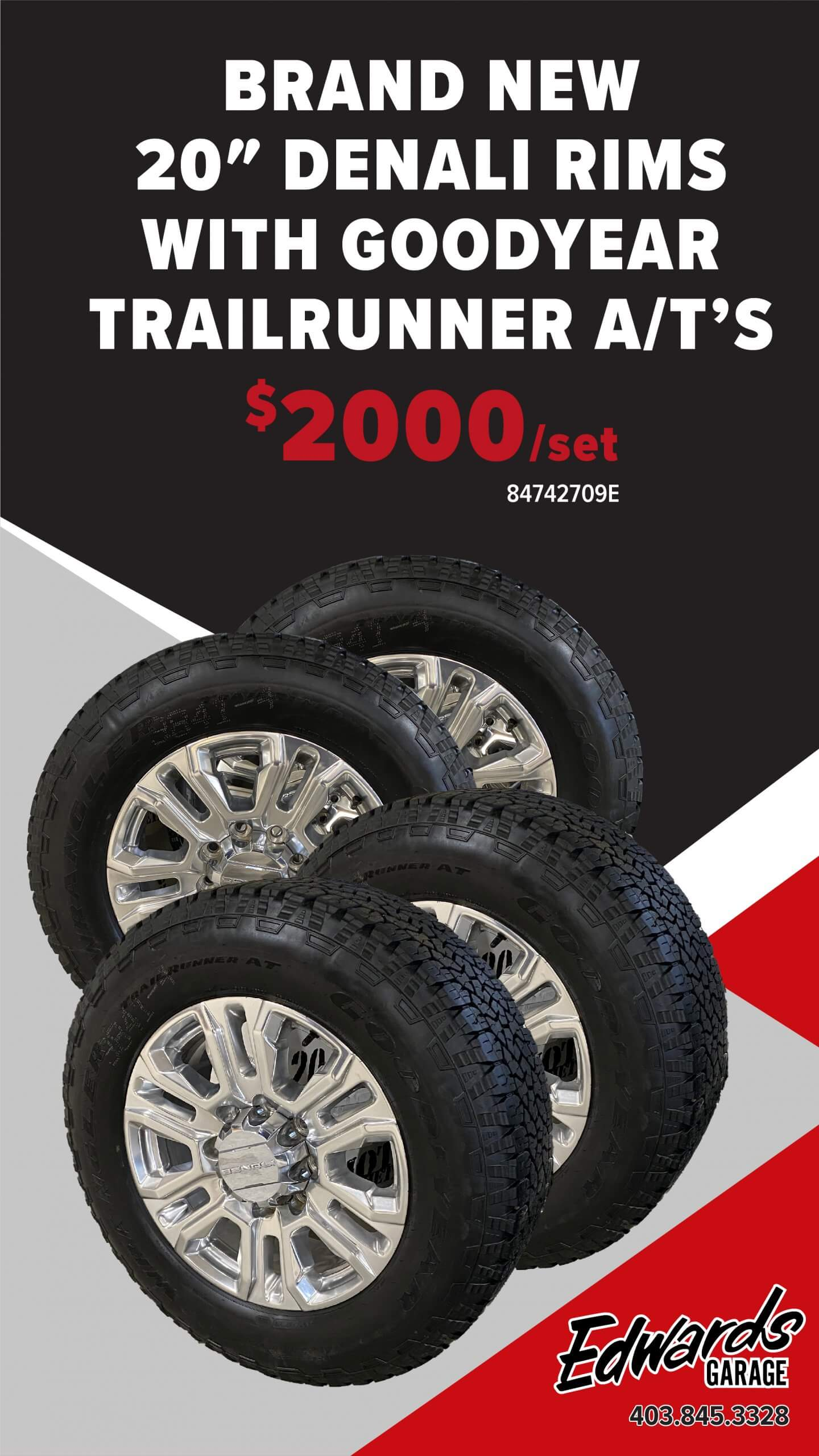 Set of Tires & Rims - Denali
