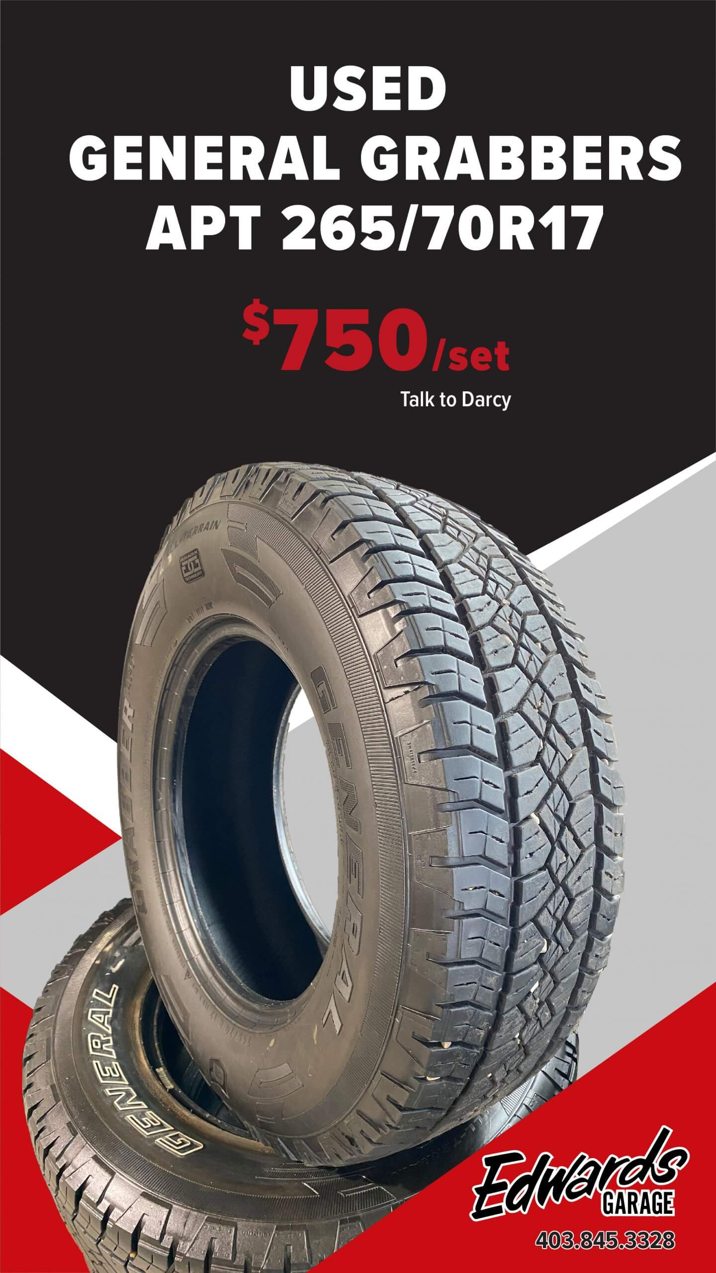 Used Set of Tires - General Grabbers