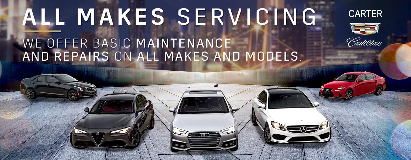 All Makes Servicing We offer Basic Maintenance and Repairs on All Makes and Models