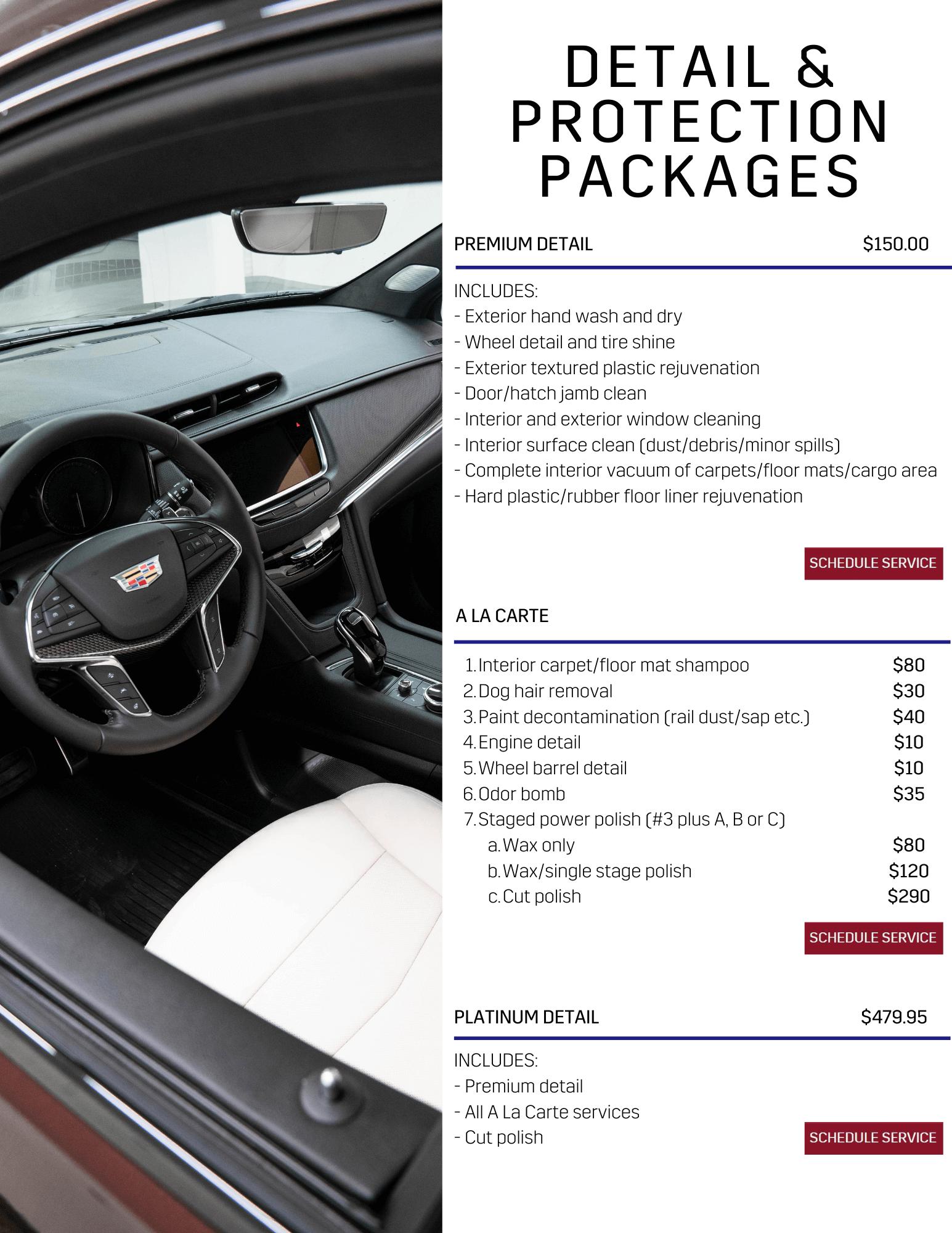 Premium Detail $79.95 + GST