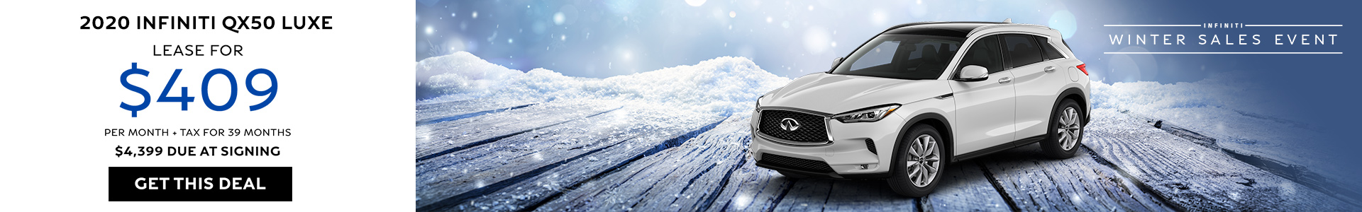QX50 Lease for $409