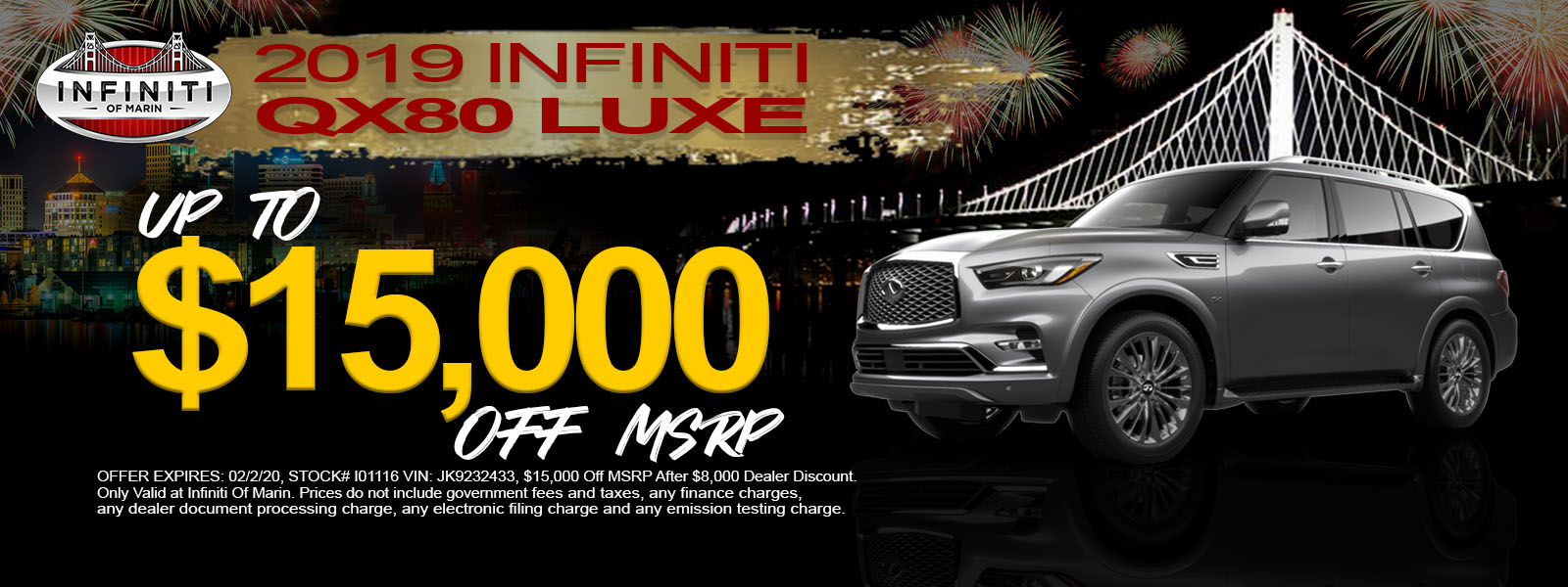 2019 QX80 LUXE 4WD - Special Offer