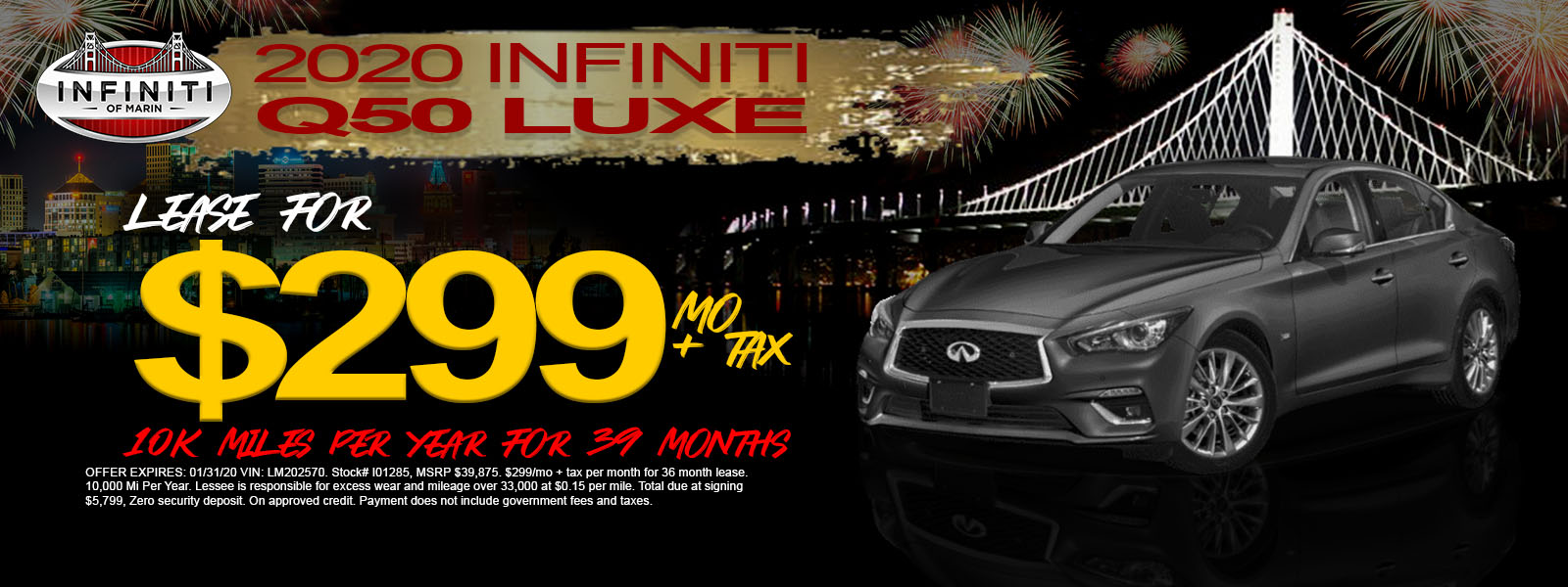 2019 QX50 LUXE AWD - Lease Offer