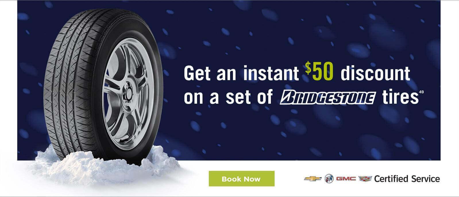 Bridgestone $50 offer