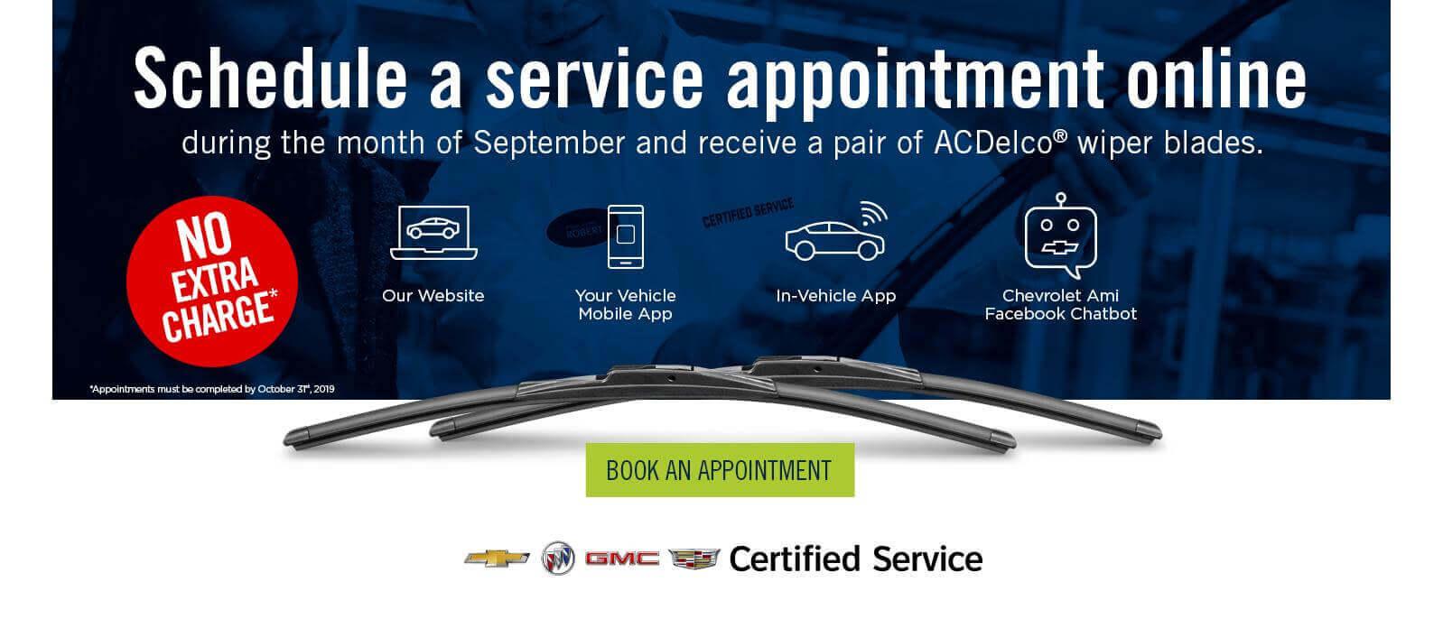 Schedule a service appointment online
