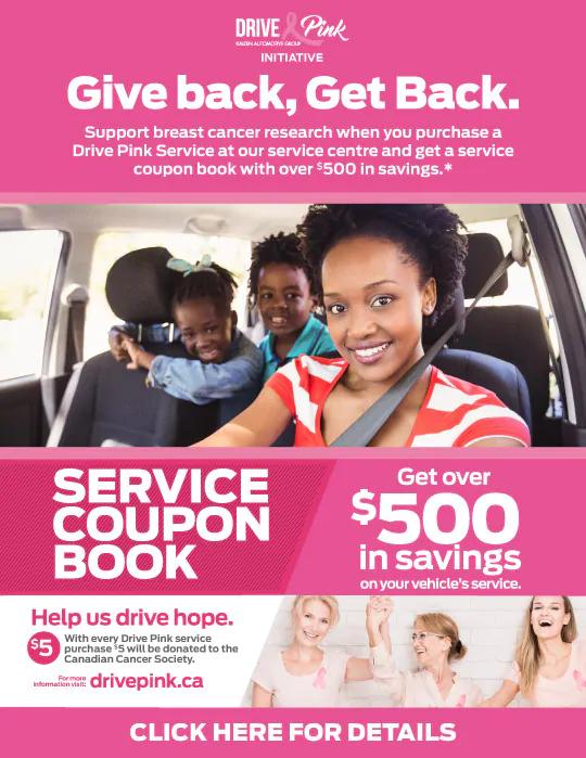 Drive Pink Coupon Book