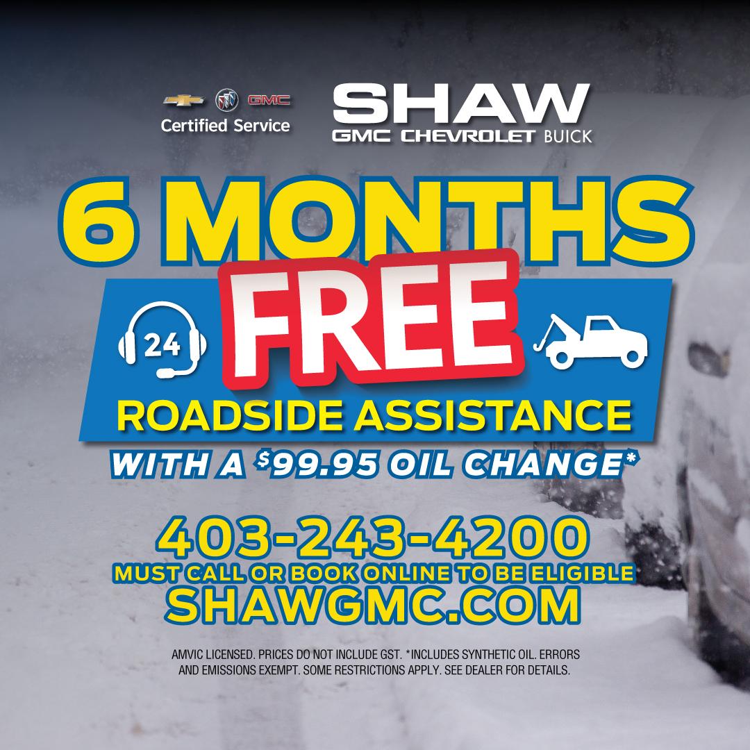 6 Months Free Roadside Assistance