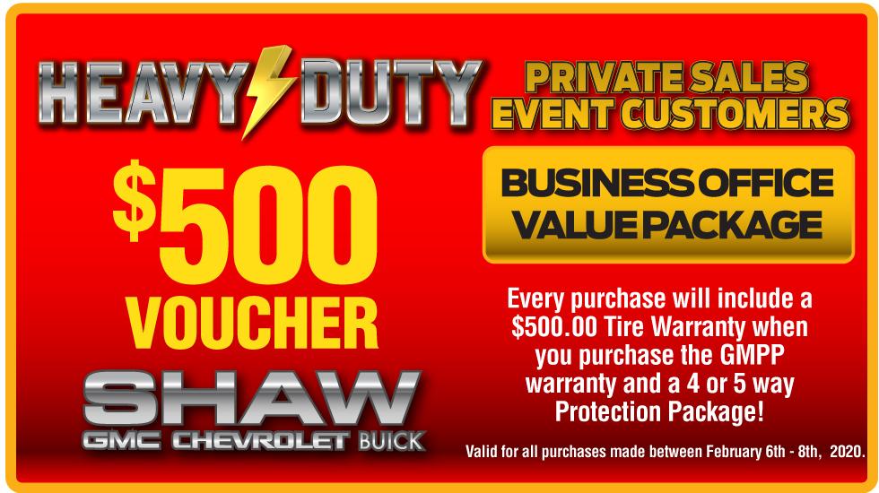 $500 Warranty Voucher