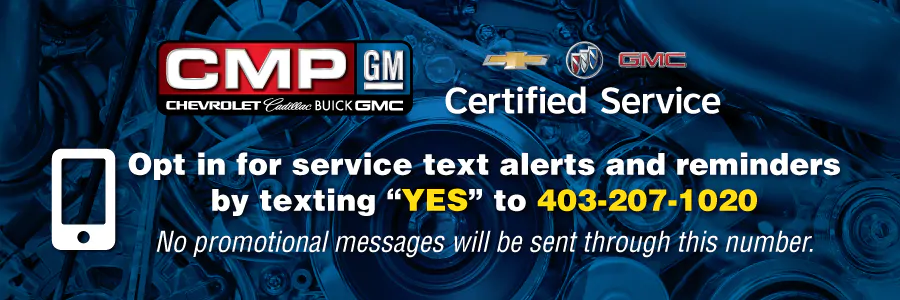 Opt in for service text alerts and reminders by texting 'Yes' to 403-207-1020