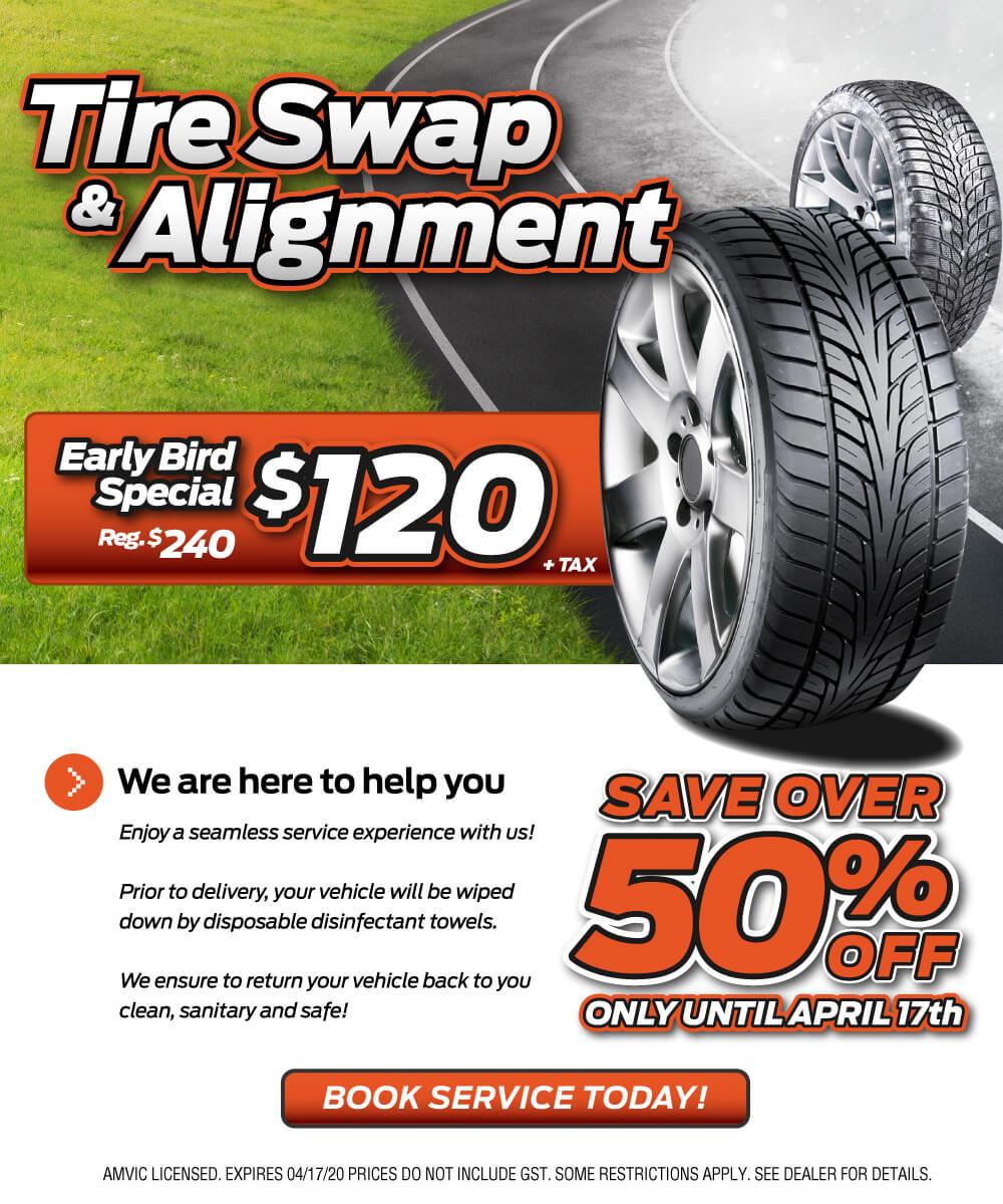 Tire Swap & Alignment Special