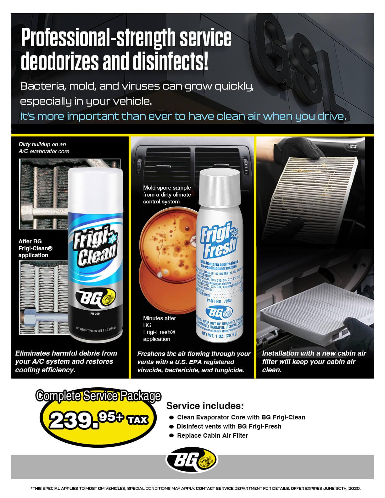 Air System Deodorize Promo